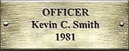 Officer Kevin C. Smith 1981