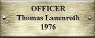 Officer Thomas Lauenroth 1976