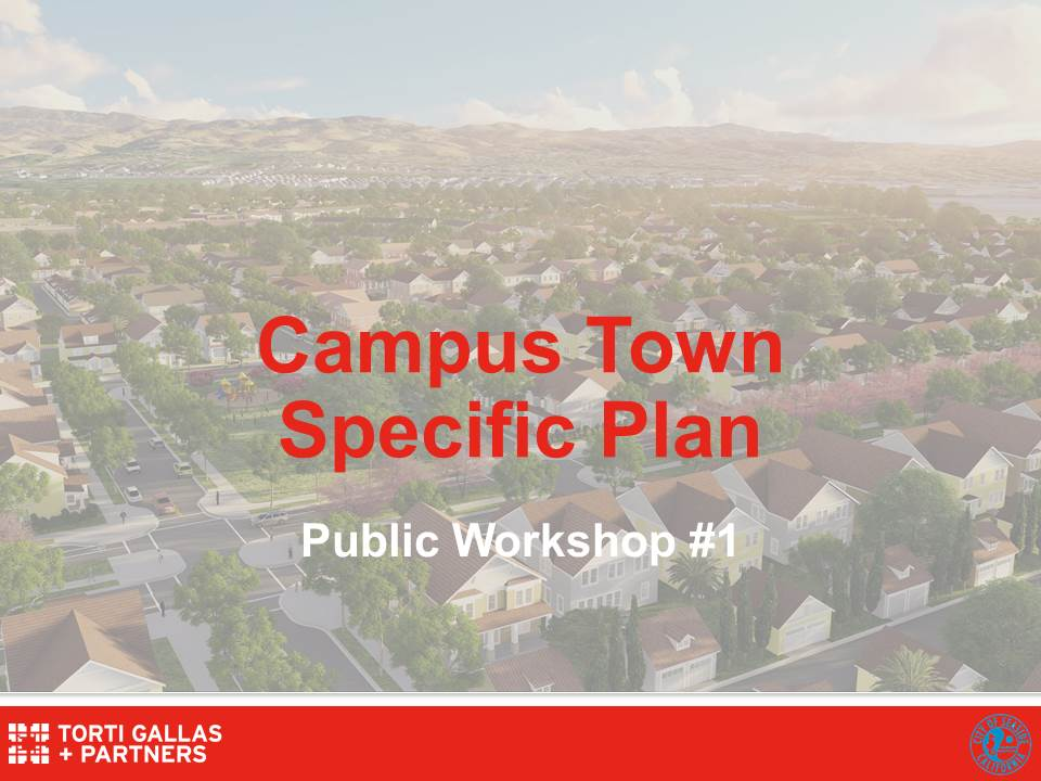 Campus Town Project Public Workshop flyer