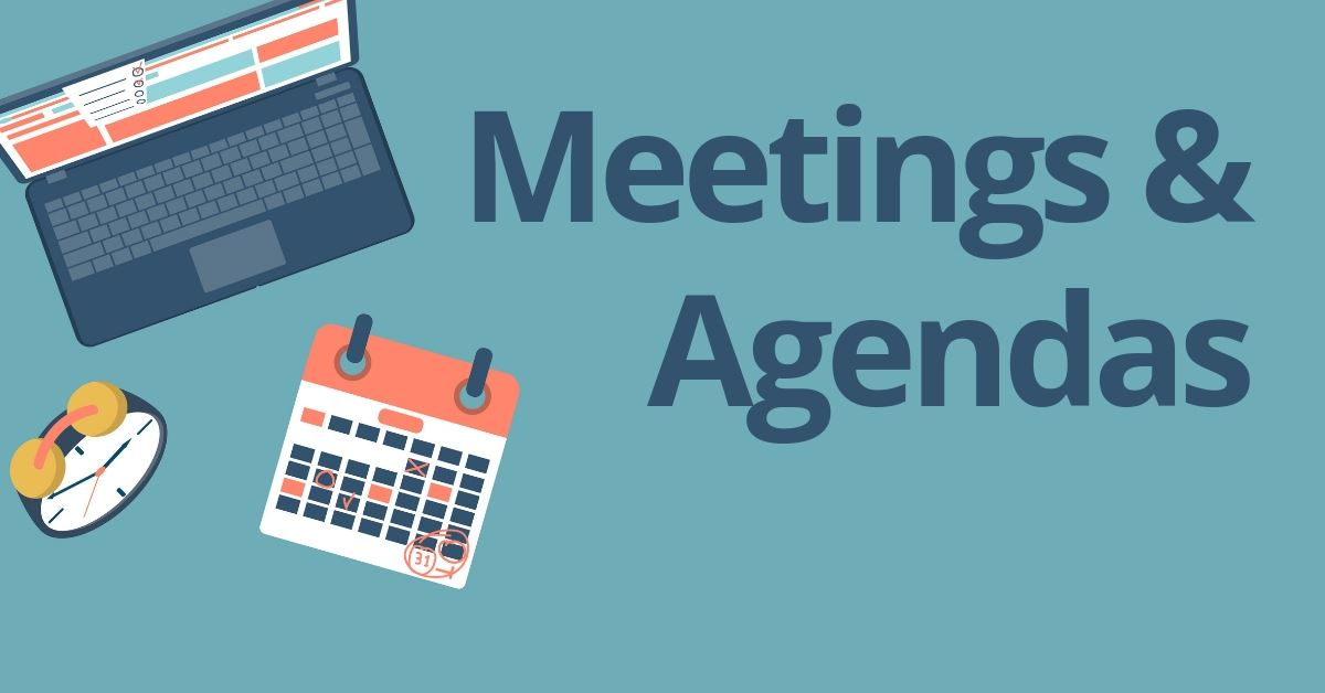 Meetings and Agendas graphic of sign up sheets