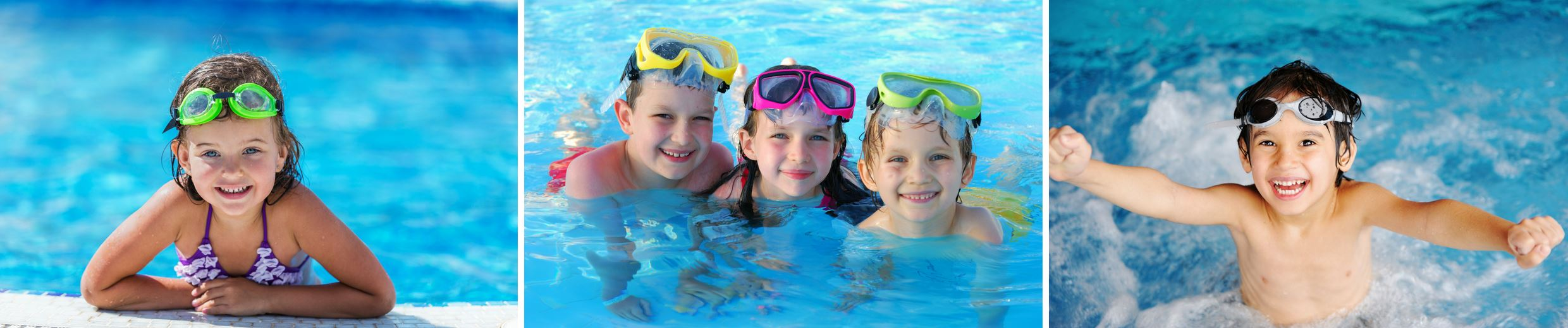 Children swimming in pool