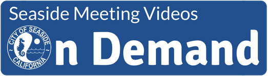 "Text reading ""Seaside Meeting Videos On Demand"" with Seaside logo"