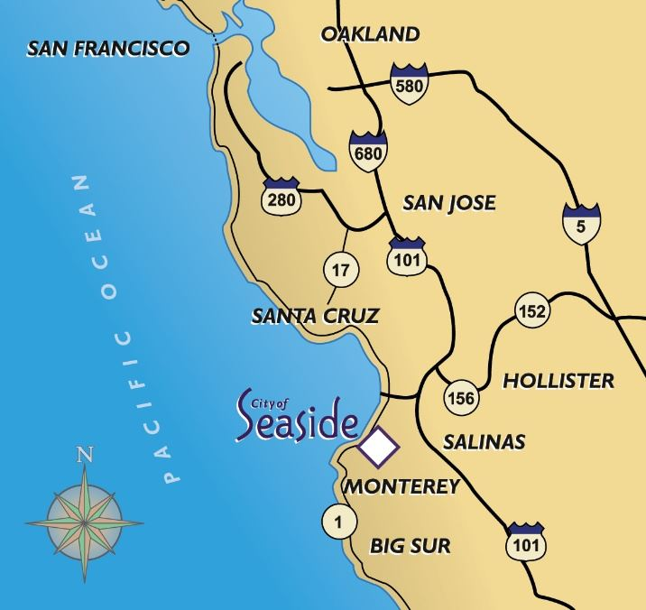 Map of Seaside