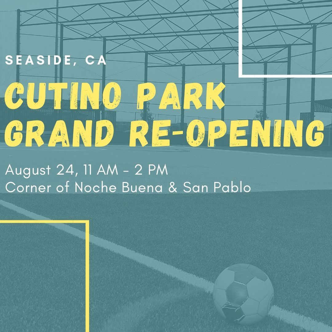 Image that says &#34Cutino Grand Re-Opening August 24, 11-2 PM&#34