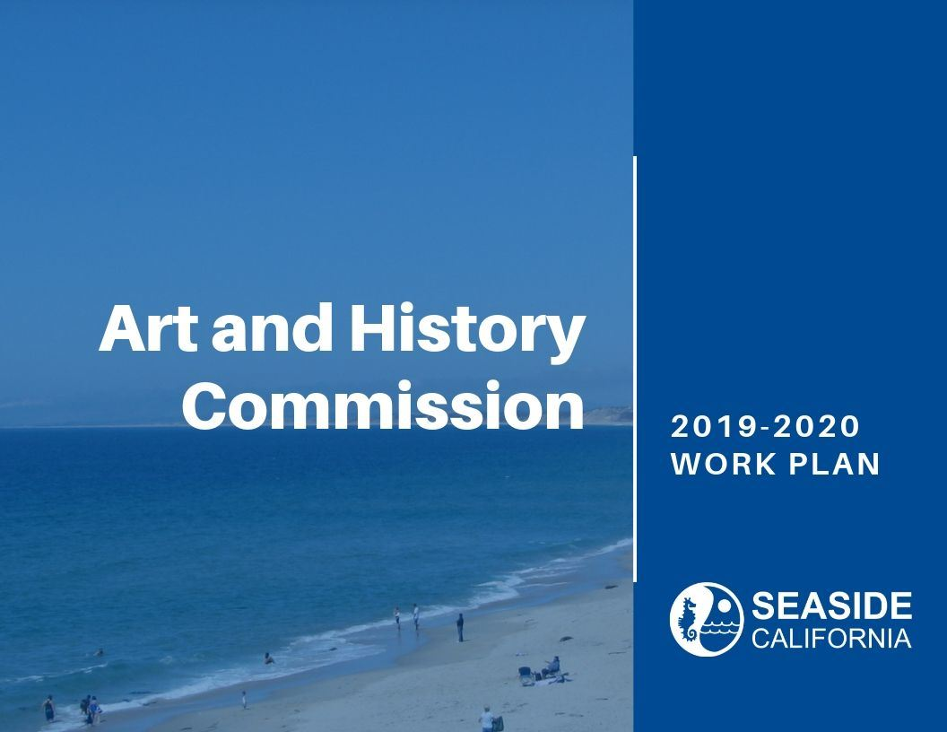 Cover of 19-20 Art and History Commission Work Plan Opens in new window