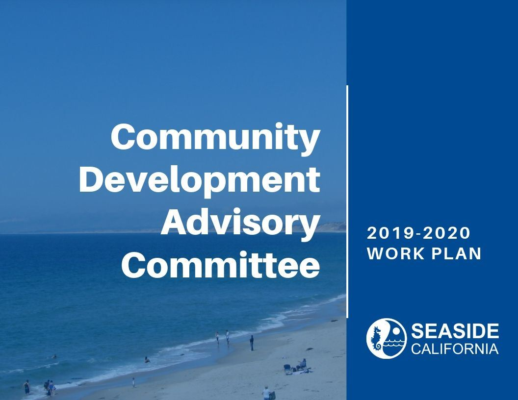 Cover of 19-20 Community Development Advisory Committee Work Plan Opens in new window