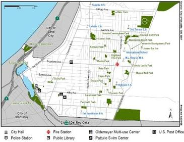 Map of Seaside Parks